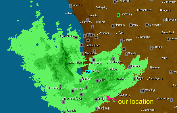 Rain Radar as at 11:40 AM 27-04-2012